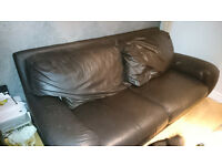 dfs 3 seater sofa leather