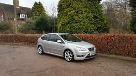 2006 FORD FOCUS ST2 SILVER 3 DOOR HATCHBACK 2.5 TURBO TOP SPEC 225 BHP ANY TRIAL WELCOME,