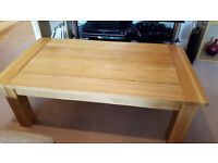 Solid oak coffee table for sale. Great condition.