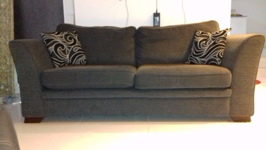 3 & 2 seater sofas with footstool