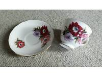 Vintage Floral Royal Vale Teacups and Saucers