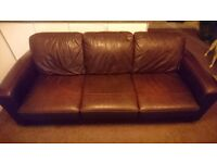4 seater leather couch sofa