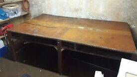 Large wooden table: L:245, W:147, H: 86 cm
