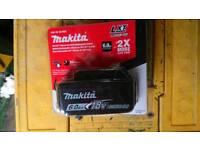 Makita 18v 6.0 amp battery
