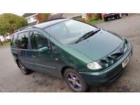 VW SHARAN CARAT TDi 1896cc IN GREEN 1999