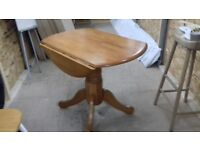 Julian Bowen Dundee Wood Drop Leaf Dining Table In Honey Pine Finish