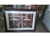 """Framed print """" cafe majestic"""""""