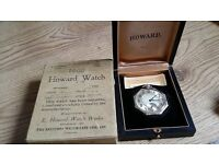 E.Howard 14k white solid gold pocket watch