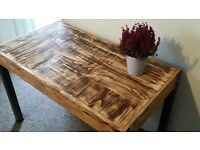 Handmade pallet desk made of reclaimed solid wood