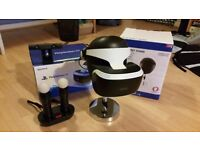 Playstation VR for PS4 with camera, move controllers + 6 Games