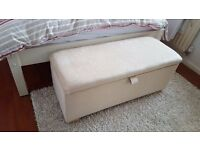 BRAND NEW OTTOMAN with Lined Storage available in CREAM **CAN DELIVER**