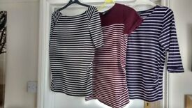 Maternity tops, 2 x 3/4 length sleeve size 8, one T-shirt size 10. New Look. Good condition.