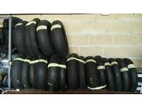 Motorcycle part worn tyres track day tyres