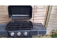 Gas BBQ Landmann Midas 3 Burner. Includes BBQ tools and cleaning brush, BBQ Cover and half gas tank