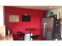 Fully furnished double bedroom for rent in a 2 bed ground floor flat, Sky movies, wifi