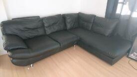 Large Faux Leather Sofa