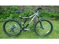 Mongoose Pro Wing Elite full suspension mountain bike