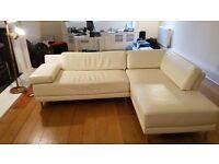 Habitat White Faux Leather Sectional Sofa