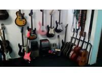 Guitar and bass guitar classes