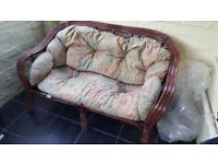 WICKER / BAMBOO SOFA WITH CUSHIONS see details