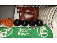 SET OF BOWLS WITH REAL LEATHER BAG