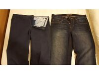 "Two Men Jeans SIZE 34"" slim fit; (44 EU): Italian ENRICO MARINELLI smart JEANS & Plus one other"