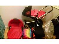 Quinny buzz 4 full travel system in rebel red