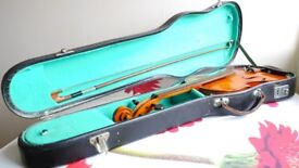 Vintage Blessing Violin with case & bow - need new strings
