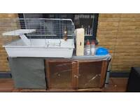 Full Rabbit hutch enclosure & comes with inside cage