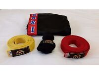 Kick Boxing Kit Trousers, Wraps and Belts