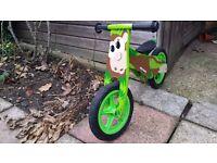 Kids balance bike. Milly mally cheaky monkey. Great first bike.