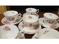 Vintage Tea Set 6 Cups / 6 Saucers...Tea Party / Wedding / Christening