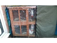 DOUBLE STORY RABBIT HUTCH WITH COVER - BUYER MUST COLLECT
