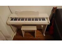 White Kids Digital Piano with stool gear4music JDP-1