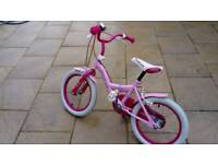 PINK ANGEL 16 GIRLS BICYCLE VGC HARDLY USED (5 - 7 YEARS)