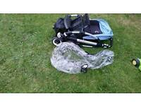 Bugaboo bee 3 with extandeble hood and raincover