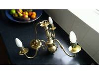 Quality Brass Light Fitting and candle bulbs
