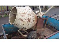 Electric cement mixer concrete mixer