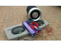 ALPINE speakers, subwoofer, amplifier