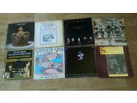 8 x vinyl LP's - steeleye span - ten man mop / hark the village / sails of silver