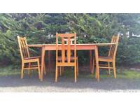 Vintage Table and Chairs. Dining Set. Christmas Dinner.