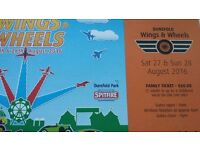 Wings & Wheels Family Ticket (August Bank Holiday) - Airshow, Motoring show & much more
