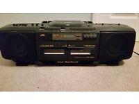 JVC Portable CD,Radio & Twin Cassette Player (Ghetto Blaster)