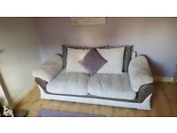 Cream chord sofa and chair