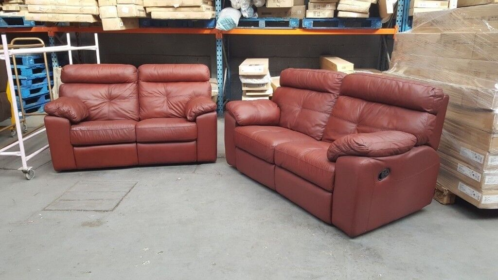 Awesome 3 2 Cameron Large Leather Recliner Sofa Ox Blood Wine Manual Recliner In Small Heath West Midlands Gumtree Gamerscity Chair Design For Home Gamerscityorg