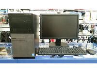 Dell Optiplex 3020, Intel Core i5 3.30 GHz 8GB RAM 1000GB HDD DVD warranty Windows 10 PRO monitor 19