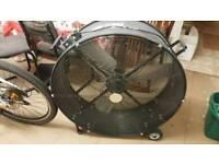 wheeled, 2 speed drum fan