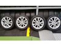 Vauxhall Genuine 17 alloy wheels + 4 x tyres 225 45 17