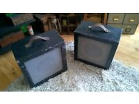 2 Vintage Speakers (untested - 1 is housing only)