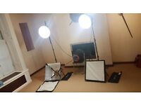 PROFESSIONAL PHOTOGRAPHY FILMING PORTRAIT LIGHTING EQUIPMENT TWIN HEAD KIT NOW ONLY £190 AS MUST GO!